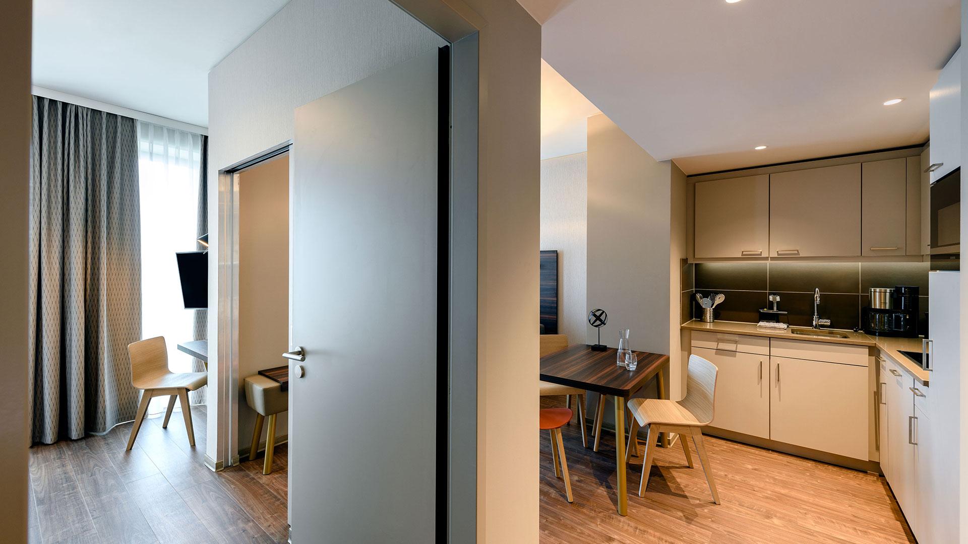 Foto einer Zimmer-Küchenzeile - 01 - Aparthotel Adagio Bremen