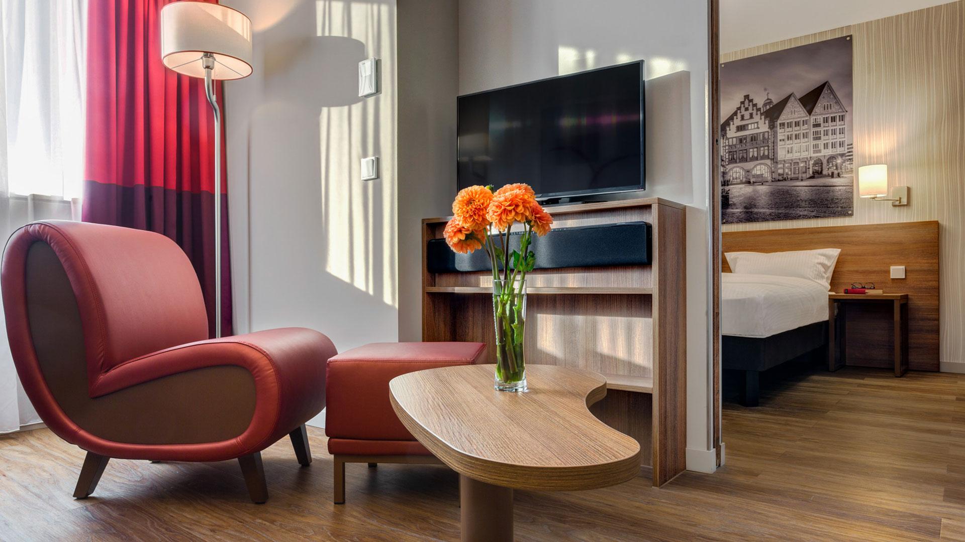 Photo d'une vue d'une chambre - 03 - Aparthotel Frankfurt City