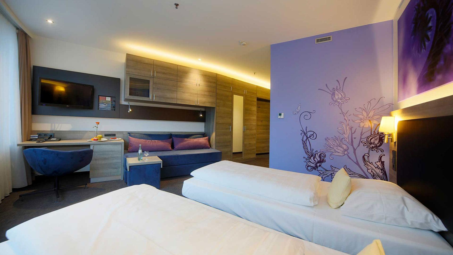 Foto einer Zimmeransicht - 01 - Hanse Hotel Attendorn