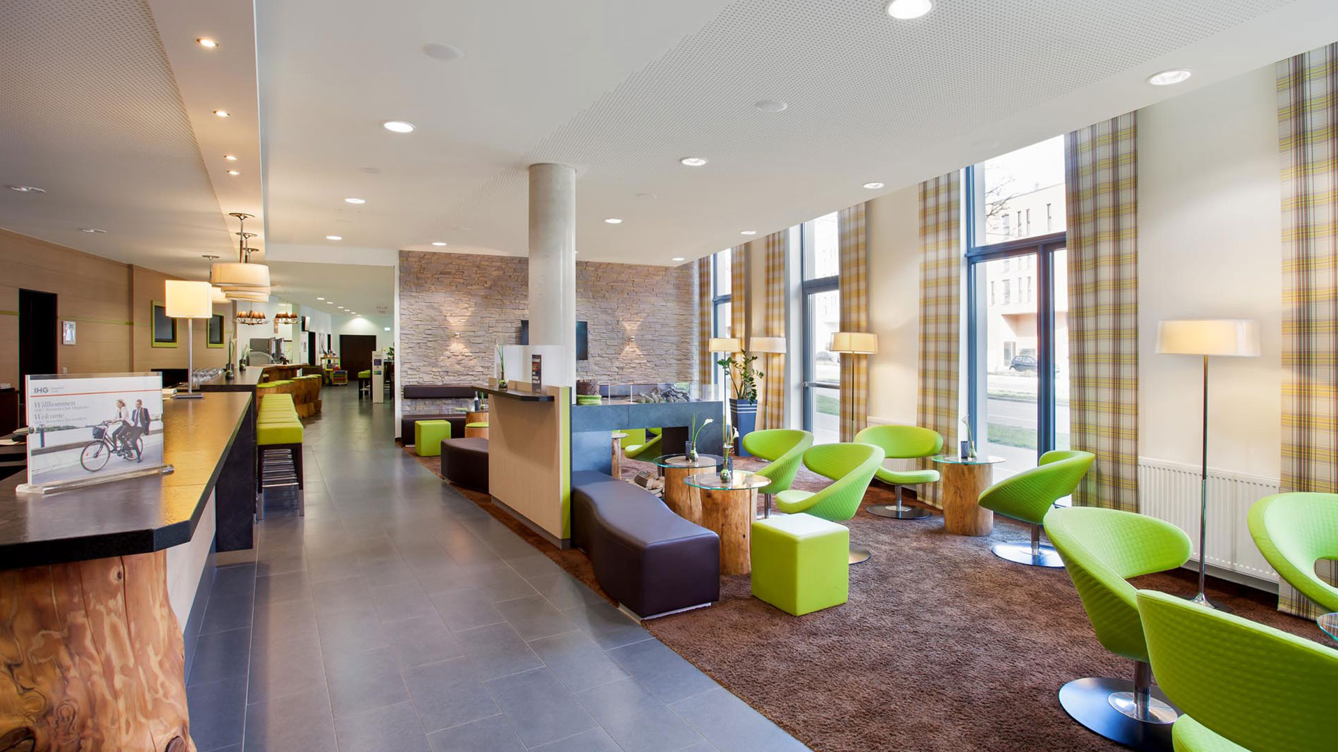 Photo of the lobby of the Holiday Inn Express Augsburg