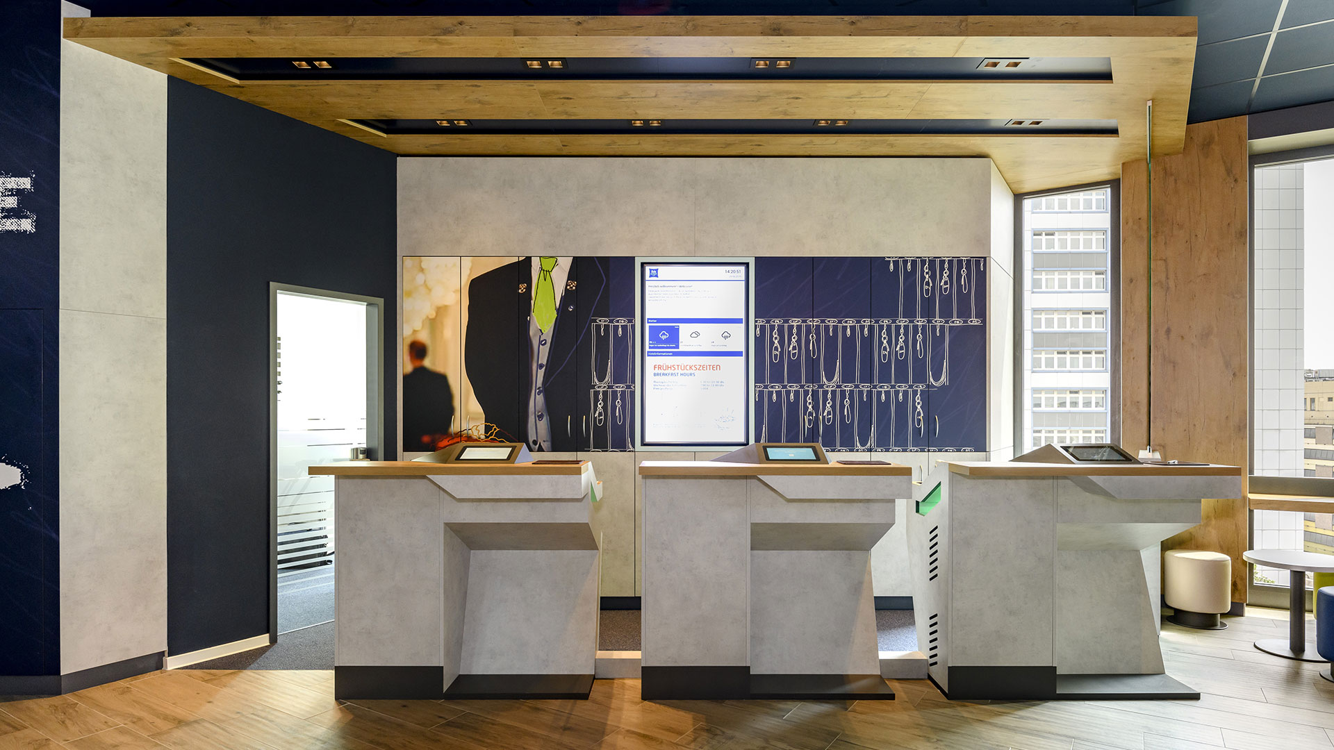 Foto der Rezeption - 01 - ibis budget Bremen City Center