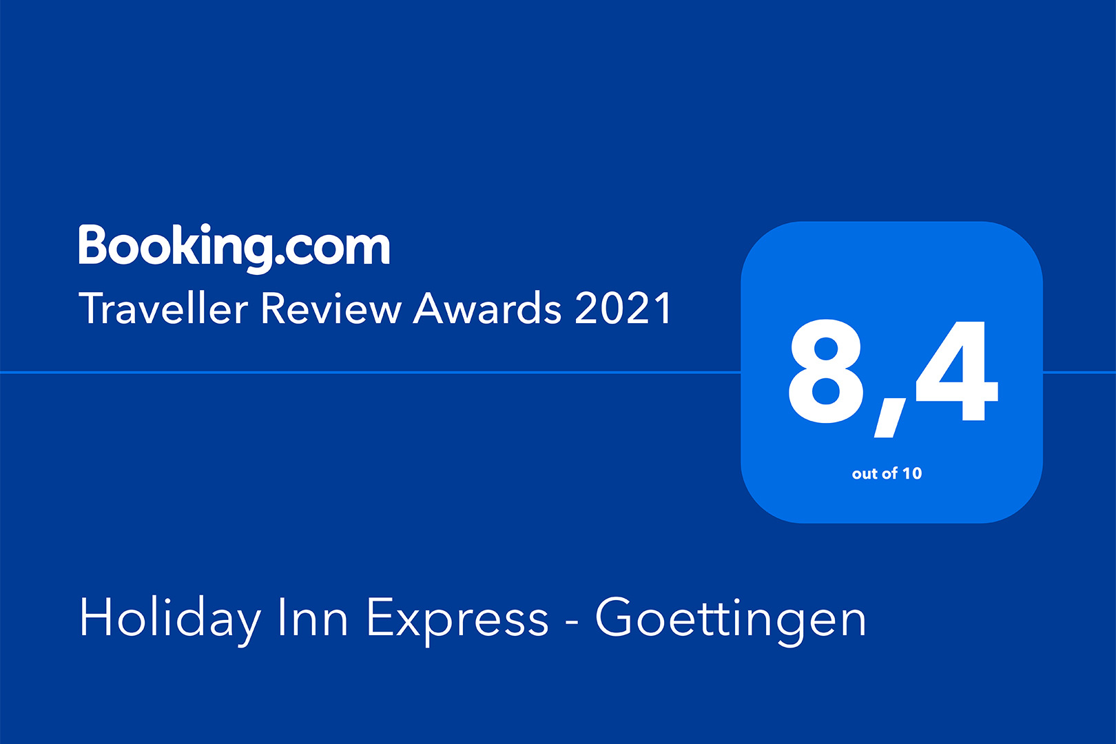 Holiday Inn Express Göttingen - Traveller Review Award 2021